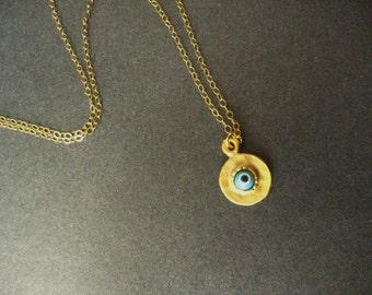 Gold plated My Evil eye protect me, evil eye, layered, protection, spiritual, luck, bridesmaid