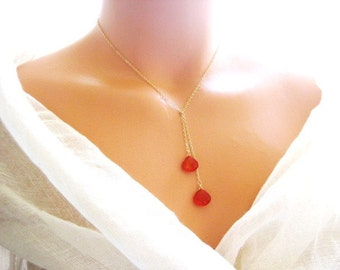 adara necklace in Red (one who is beautiful)