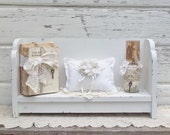 French Cottage White Book Bench.....Chic Shelf