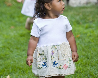 Hankie Babies vintage tablecloth dress -- Savannah style