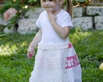 Hankie Babies vintage tablecloth dress -- Gemma style