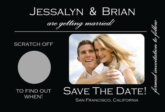 Scratch Off Wedding Save The Dates ~ Unique, Chic, & Trendy Scratch Off Wedding Photo Save the Dates (100 qty)