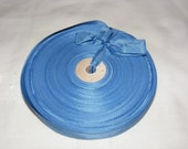 Vintage 1930's-40's French Woven Ribbon -Milliners Stock- 5/8 inch French Blue