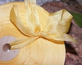 Vintage 1930's-40's French Woven Ribbon -Milliners Stock- 5/8 inch Fall Gold