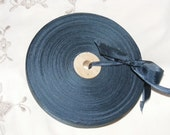 Vintage French 1930's-40's Woven Ribbon -Milliners Stock- 5/8 inch Tapestry Blue