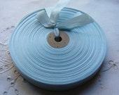 Vintage 1930's-40's French Woven Ribbon -Milliners Stock- 5/8 Inch Gorgeous Ice Blue