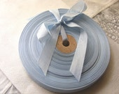 Vintage 1930's-40's French Woven Ribbon -Milliners Stock- 5/8 inch Powder Blue