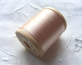 Antique 1920's Corticelli Pure Silk Hand Sewing Embroidery Floss Thread 100 Yd Spool Ice Pink