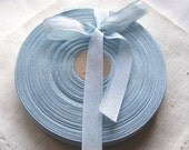 Vintage 1930's-40's French Woven Ribbon -Milliners Stock- 5/8 inch Antoinette Blue