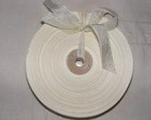 Vintage 1930's-40's French Woven Ribbon -Milliners Stock- 5/8 inch Cream