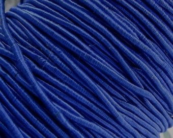 Vintage 1940's Silk Necklace Cord Cording 1/16 Inch Shimmery Royal Blue