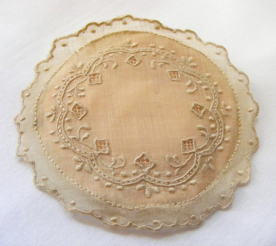 Antique 1890's Victorian Bosom Sachet Handmade Rare and Exceptionally Lovely