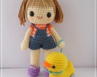PDF Crochet Pattern - Miki and 4-wheel duck