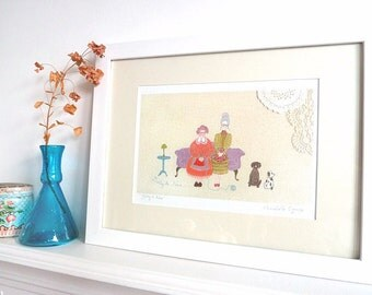 Betty & Nora - Limited Edition Fine Art Print - A4 Giclee Print