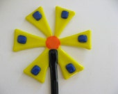 Fused  Glass Yellow Flower