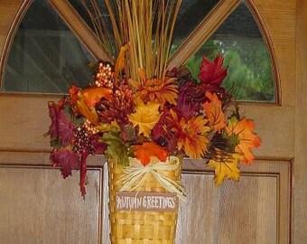 Fall Silk Hanging Basket Arrangement