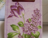 Purple Flower Mini Clipboard
