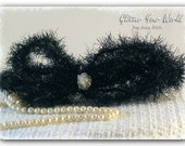 Vintage Style Tinsel Garland Halloween Black 4 1/2 Feet