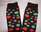 Black with polka dots leg warmers/arm warmers