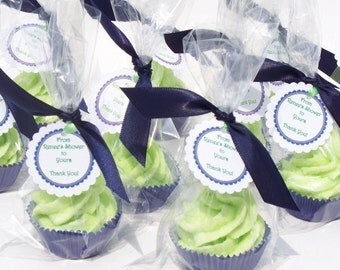 Party Favors Cupcake Bath Bomb Minis with Whipped Soap Frosting Set of 50 Individually Wrapped (Vegan Friendly) COMPLIMENTARY  SHIPPING