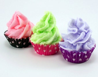 Party Favors Cupcake Bath Bomb Minis with Whipped Soap Frosting Set of 60 Individually Wrapped (Vegan Friendly) COMPLIMENTARY  SHIPPING