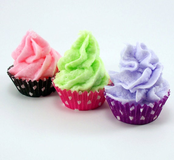 Party Favors Cupcake Bath Bomb Minis with Whipped Soap Frosting Set of 40 Individually Wrapped (Vegan Friendly) COMPLIMENTARY  SHIPPING
