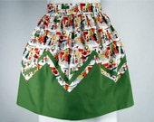 Womens Retro Winter Christmas Apron