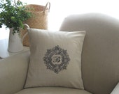 Cottage Chic 20 x 20 Pillow Cover Add your Monogram