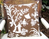 ASIAN print  18 inch pillow cover