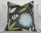 BLUE MUMS set of two 20 inch pillow covers Decorative Pillow Cover 20 inch throw Pillow Accent Pillow