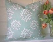 SUCCULENT  in robin blue set of two 20 inch pillow covers