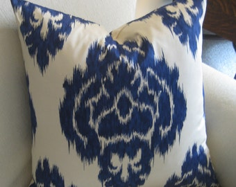 Blue IKAT Pillow Cover kalah accent pillow toss pillow throw pillow