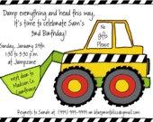Birthday Invitation- Dump Truck