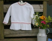 Vintage white pleated baby tennis dress