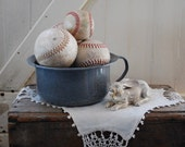 Five Vintage Baseballs and Softballs for Urban Style Decorating