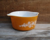 Vintage Golden Butterfly Pyrex Mixing Bowl with Handles