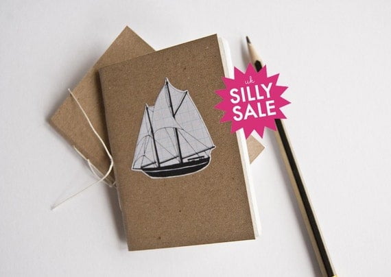 SILLY SALE Hand-bound mini sailing boat sketchbook