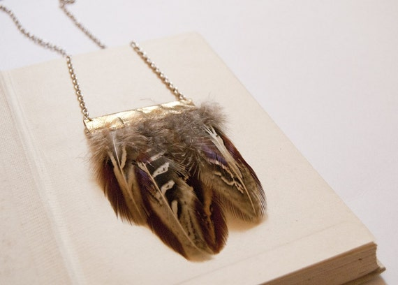 PHEASANT feather necklace