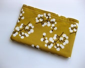 Eco Friendly All Cotton Snack Bag - Apricot Blossoms
