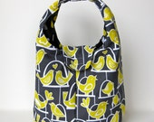 Insulated Lunch Bag - Birds On Swings