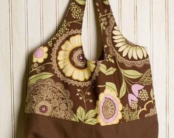 Original Tote Bag - Brown Lacework