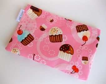 Snack Bag Unbleached Cotton Lining Eco Friendly Sweet Cupcakes