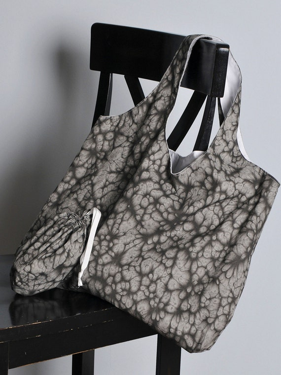 SALE! Market Tote Bag - Stone Puddles