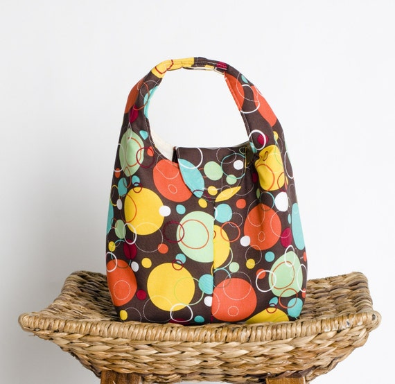 Insulated Lunch Bag - Rainbow of Circles