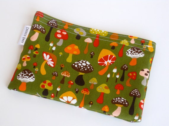 Eco Friendly Snack Bag All Cotton Forest of Mushrooms Alexander Henry