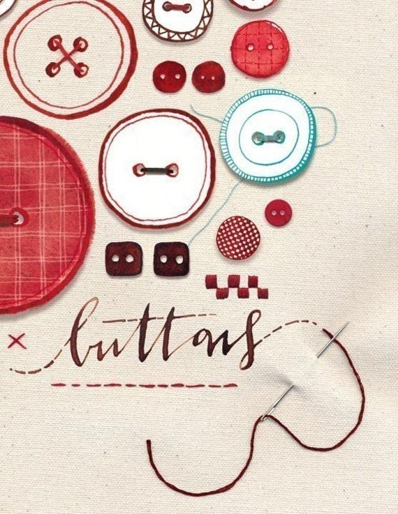 Buttons Print 8.5 x 11