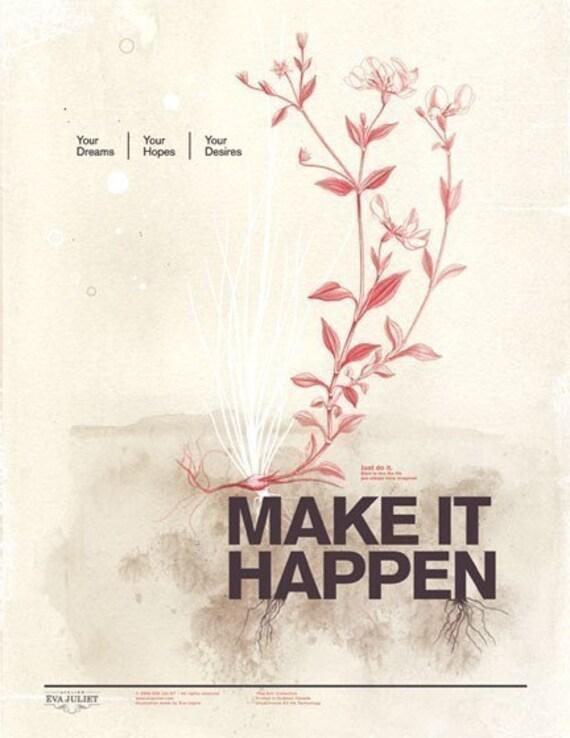 Private listing for Manon - Make it happen  & Choisis la joie 13x19