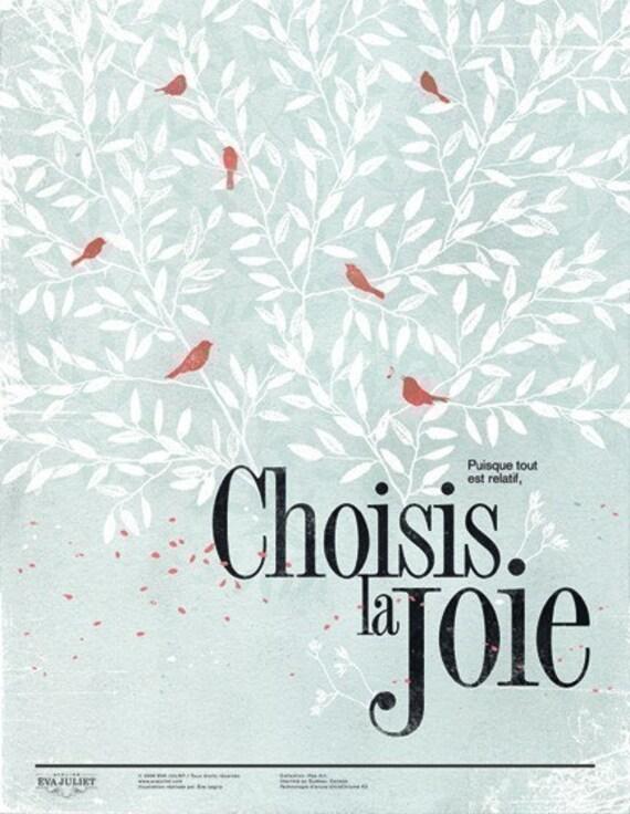 Choisis la joie 13x19 -Pep Art- Collection