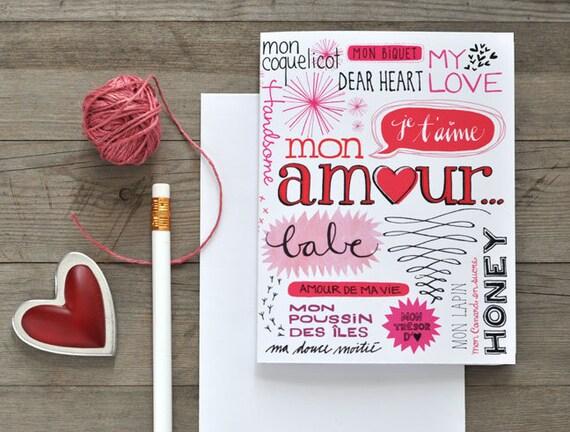 Nickname Valentine card A2 Bilingual