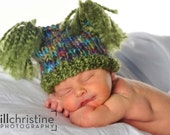 Baby Jester Hat with Olive Tassels - Any Size Available - Great Photo Prop